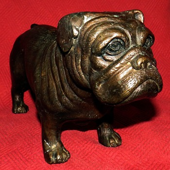 Vintage Solid Bonze Bulldog - Animals