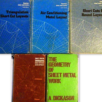 Full Compliment of Sheet Metal Pattern Developement Text before Computers. - Books