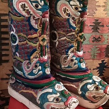 Antique Tibet boots - Asian