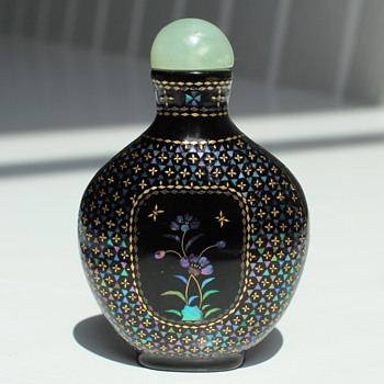 Laque Burgaute Snuff Bottle - Asian