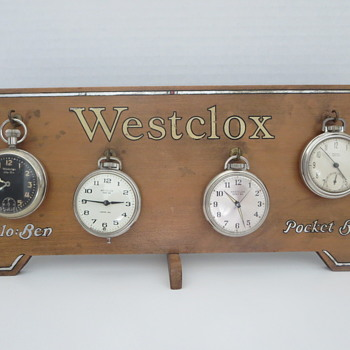 Westclox Store Counter Display  - Advertising