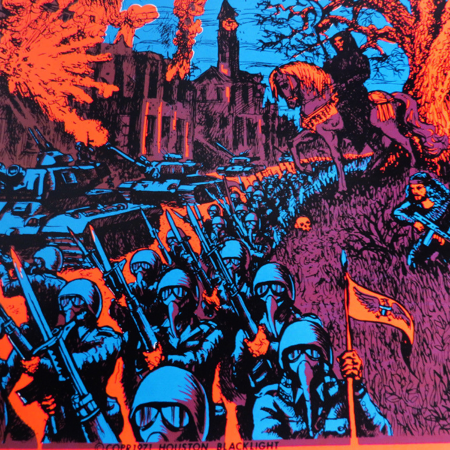 Vintage Houston Black Light Poster 1971 showing Anarchy in ...