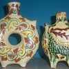 2 VINTAGE CLAY ART POTTERY VASES ITALY OR MEXICO?