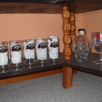 Jim Beam bar glasses - Breweriana