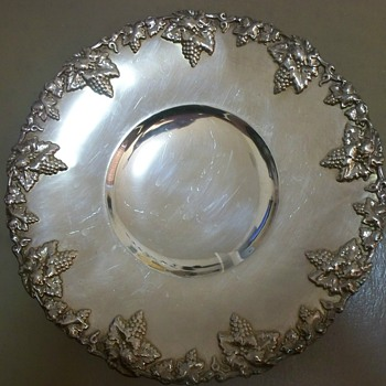 Silver Serving Tray with Hallmarks: Scissors, Crown and Horse?  Help Identify - Silver