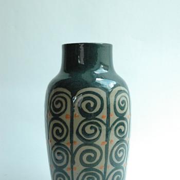 art deco pottery vase by LEON ELCHINGER - Art Deco