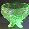 Sowerby Uranium Glass Rose Bowl - 2570