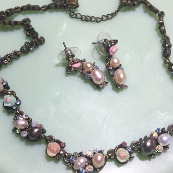 Cookie Lee necklace and earrings  - Costume Jewelry