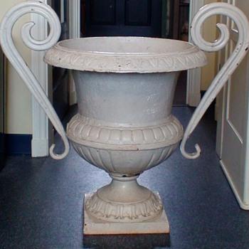 Antique Iron Garden Urn