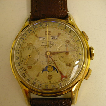 1953 Butex Calendar Chronograph Wristwatch