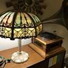 Unknown Rainbow Slag glass lamp