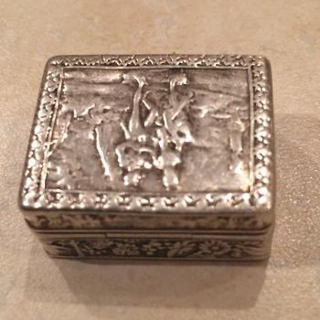 Small 800 Silver Pill Box - Silver