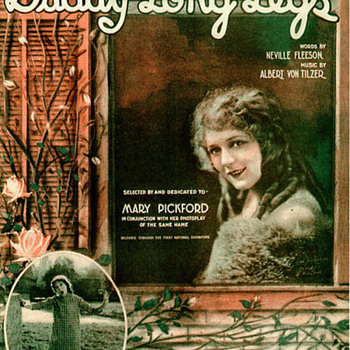 "HAPPY FATHERS DAY ""DADDY LONG LEGS""  MARY PICKFORD SHEET MUSIC - Music Memorabilia"