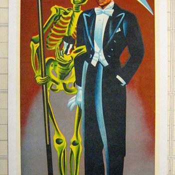 "Original 1959 ""Profesor Alba"" Stone Lithograph Poster - Posters and Prints"