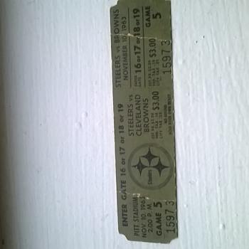 Steelers 1963 ticket