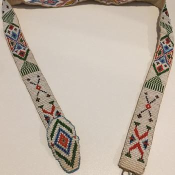 Loom Beaded Native American Belt - Native American