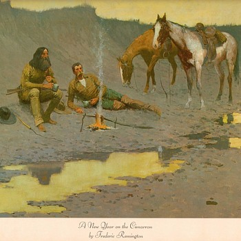 "Frederic Remington print - ""New Year on the Cimarron"" - Fine Art"