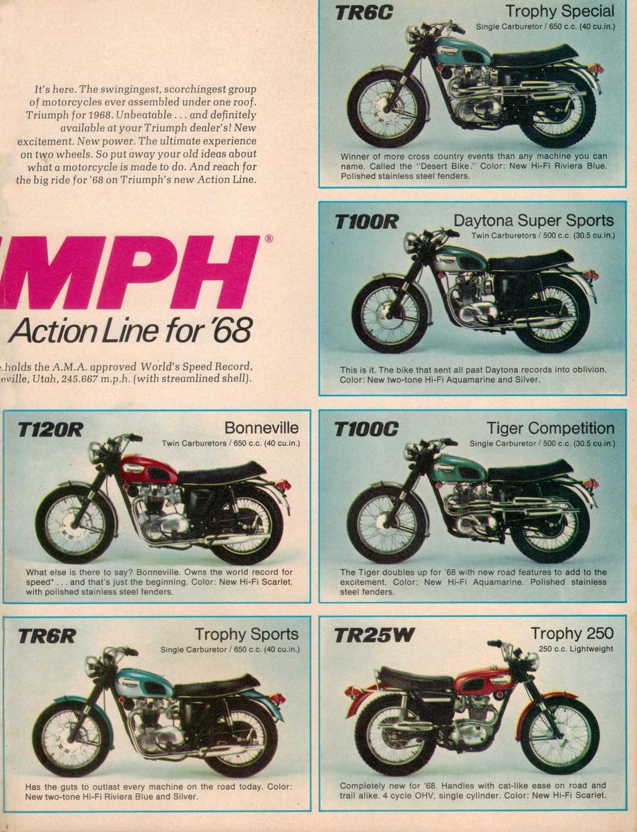 1968 Triumph Motorcycles Sales Brochure – Sales Brochure