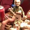 Ceramic, grandma pumping for four ducks. 5inches