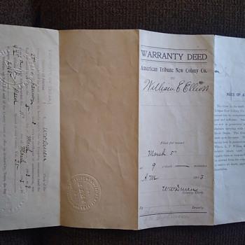 Fitzgerald Georgia founder deed - Paper