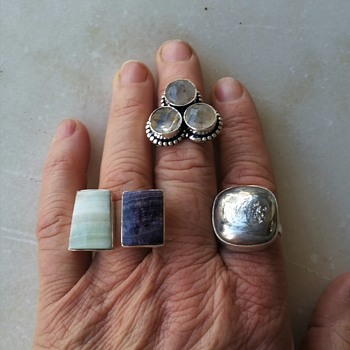 Not old, but interesting gemstone rings - Fine Jewelry