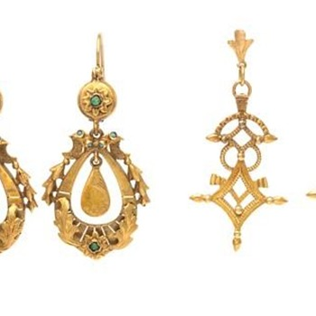 Victorian Gold Earrings  - Fine Jewelry