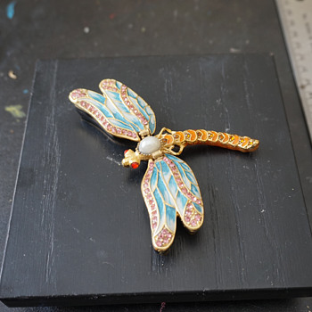 Dragonfly Trinket Box - Costume Jewelry