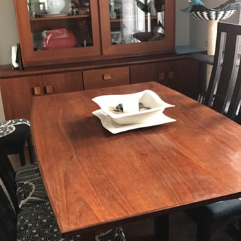Love my vintage teak dining table and cabinet - Furniture