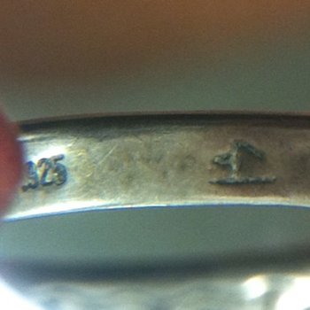 Silver Ring with Mystery Mark