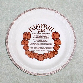 "Royal China ""Country Harvest"" Pumpkin Pie Dish - China and Dinnerware"