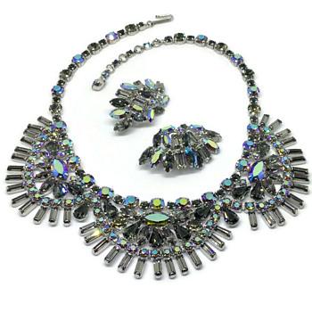 Sherman necklace & Earrings - Costume Jewelry