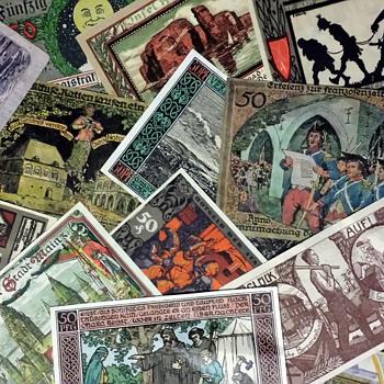 1920s German emergency money Notgeld