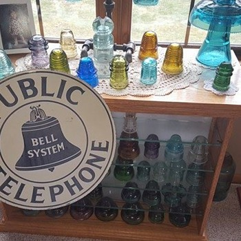 Antique Public Telephone Sign - Signs