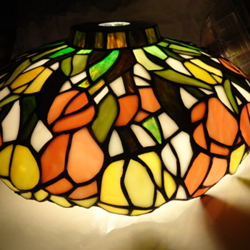 tulip stained glass lamp - Lamps