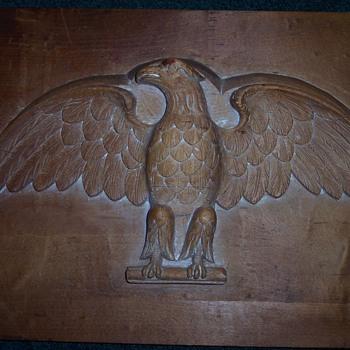 HAND CARVED EAGLE WOODEN MOLD - Folk Art