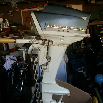 Scott-Atwater 1957 Twin Outboard - Sporting Goods