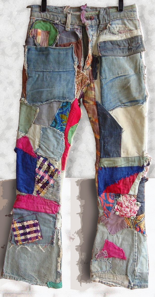 Fantastic Late 1960s 1970s Wrecked Amp Patched Hippie Jeans
