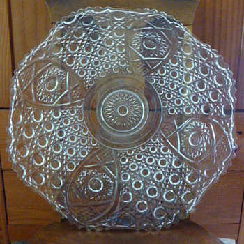 L. E. Smith large daisy and button platter - Glassware