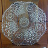 L. E. Smith large daisy and button platter