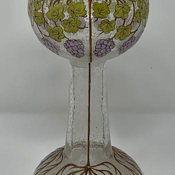 "Loetz ""Schaumglas"" Goblet, Marie Wilfert-Waltl Design, PN II-3900, ca. 1906 - Art Glass"