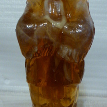 Caramel slag Indian chief - Art Glass
