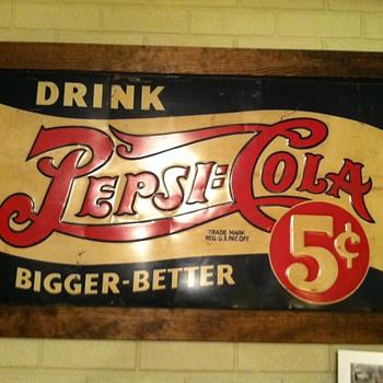 Metal Pepsi sign - Signs
