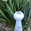 """Kralik Harlequin opalescent frit vase - """"hyacinth"""" shape"""