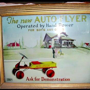 "Rare ""AUTO FLYER LIGHTED SIGN - Signs"