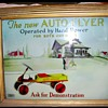 """Rare """"AUTO FLYER LIGHTED SIGN"""