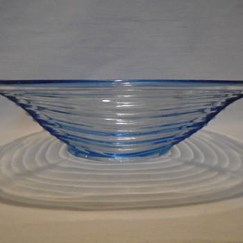 Czech Pressed Glass Bowl......Frantisek Peceny - Art Glass