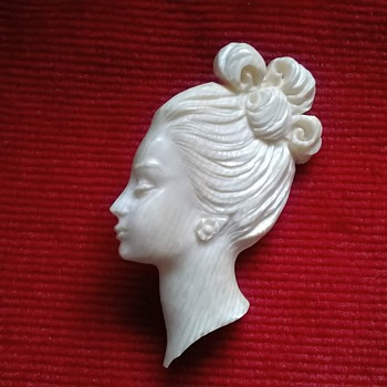 Carved Ivory Brooch, Pre-1947. - Fine Jewelry