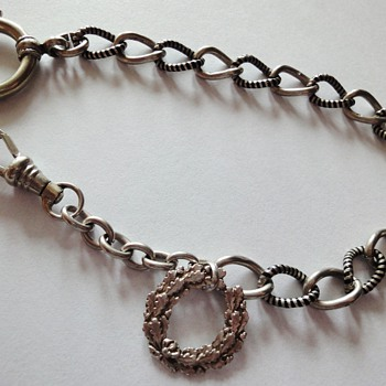 Niello Silver pocket watch chain - Fine Jewelry