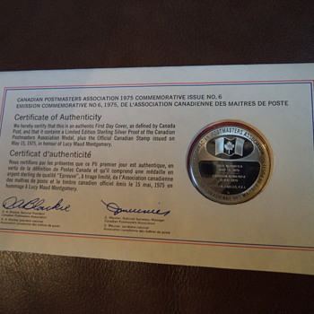 Honouring Lucy Maud Montgomery / Coin-Stamp / 1975 - World Coins