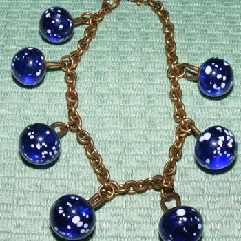 Charmstring Bracelet with Glass Waistcoats - Balls - Costume Jewelry